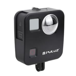 PULUZ for GoPro Fusion Housing Shell CNC Aluminum Alloy Protective Cage with Basic Mount & Lens Caps(Black)
