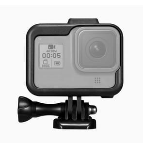 PULUZ for GoPro HERO8 Black Standard Border ABS Plastic Frame Mount Protective Case with Base Buckle & Long Screw(Black)