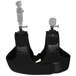 PULUZ neopreen Dual & enkele schouderband verstelbare borstriem steun voor GoPro HERO8 zwart/7 6/5  DJI OSMO actie  Xiaoyi en andere Actiecamera's