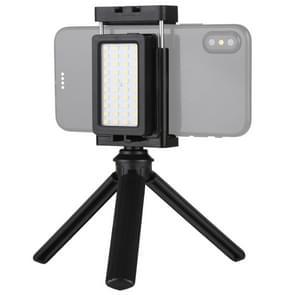 PULUZ mobiele telefoon live set Pocket Self-timer vulling licht telefoon klembeugel Mount Desktop statief (zwart)