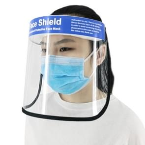 Anti-Speeksel Splash Anti-Spitting Anti-Fog Anti-Oil Beschermende Face Shields Masker met elastische band  Engelse woorden