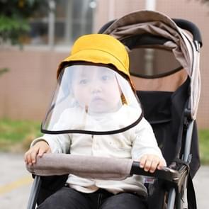 PULUZ Anti-Speeksel Splash Anti-Spitting Anti-Fog Anti-Oil Beschermende Cap Kids Fisherman Hat Removable Face Shield (Geel)