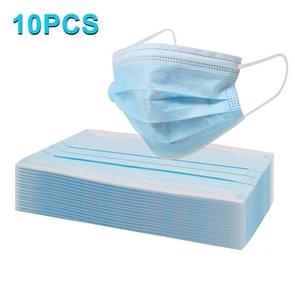 10 PCS Wegwerp 3-layered Protection Breathable Earloop Antiviral Doctor Nurse Medical Face Mask