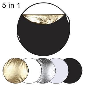 [UAE voorraad] PULUZ 110cm 5 in 1 (zilver/doorschijnend/goud/wit/zwart) vouwen foto studio reflector Board