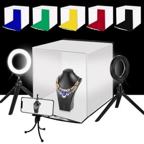 PULUZ 30cm Photo Softbox Portable Folding Studio Shooting Tent Box Kits with 6 Colors Backdrops (Red, Green, Yellow, Blue, White, Black), Size: 30cm x 30cm x 30cm