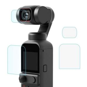 PULUZ 9H 2.5D HD Tempered Glass Lens Protector + Screen Film voor DJI OSMO Pocket 2