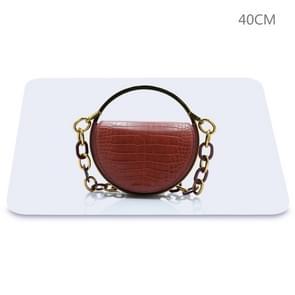 PULUZ 40cm Fotografie Acryl Reflecterende Display Table Achtergrond Bord (Wit)