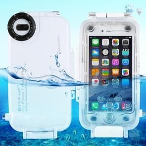 [UAE Stock] PULUZ 40m/130ft Waterproof Diving Housing Photo Video Taking Underwater Cover Case for iPhone 8 Plus & 7 Plus(White)