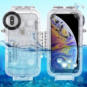 PULUZ 40m/130ft Waterproof Diving Housing Photo Video Taking Underwater Cover Case for iPhone XS Max (Transparent)