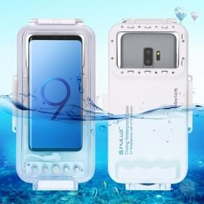 PULUZ 45m Waterproof Diving Housing Photo Video Taking Underwater Cover Case for Galaxy, Huawei, Xiaomi, Google Android OTG Smartphones with Type-C Port(White)