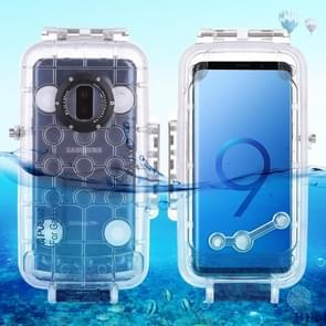 PULUZ 40m/130ft Waterproof Diving Housing Photo Video Taking Underwater Cover Case for Galaxy  S9+(Transparent)