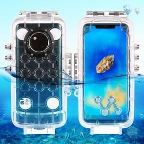 PULUZ 40m/130ft Waterproof Diving Housing Photo Video Taking Underwater Cover Case for Huawei Mate 20 Pro(Transparent)