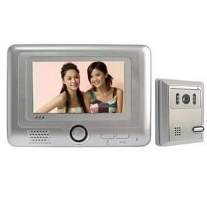 7 inch hands free color video door phone system with hand move alarm function