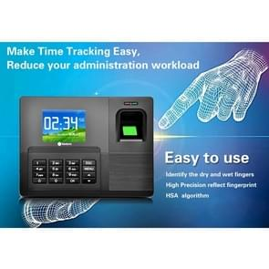 A9-TB 2.8 inch Color TFT Screen Fingerprint & RFID Time Attendance, USB Communication Office Time Attendance Clock