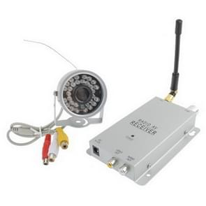 30 LED Wireless Color Security CCTV Camera + Receiver(Silver)