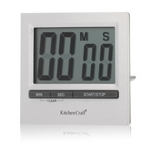 Kitchen Craft Large Display Digital Countdown Timer(Silver)
