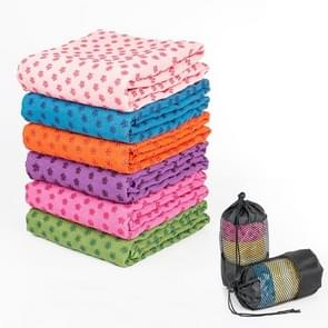 Microfiber Thickening Non-slip Yoga Blanket Long Washable Yoga Mat   Random Color Delivery