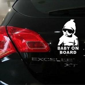 Baby On Board Pattern Vinyl Car Sticker, Size: 20cm x 13cm(White)