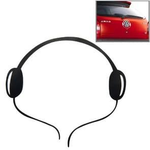 Headphone Pattern Auto Emblem Logo Decoration Car Sticker, Size: 16cm x 16cm (approx.)(Black)