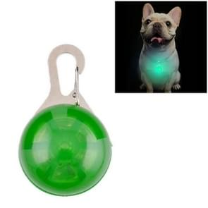Round Shape Pet Safety Flash Pendant(Green)