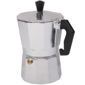 High Quality Aluminum Moka Coffee Maker Espresso Coffee Pot(Silver)