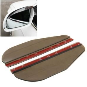 2 PC's flexibele Shelding regen Board zonneklep schaduw Rearview spiegel voor auto Rearview spiegels  (transparant zwart)