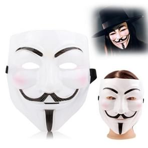 V voor Vendetta Design Plastic Mask(Wit)