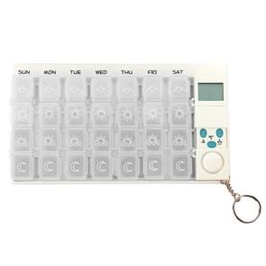 7 Days Pill Box with Digital Timer(White)