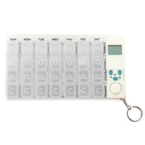 7 dagen pil doos met digitale timer (wit)