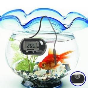 Digital Waterproof LCD Display Aquarium Thermometer(Black)