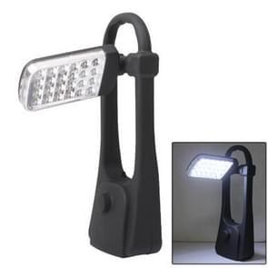 24 LED White Light Wing Camping and Foldable Garden Lantern(Black)