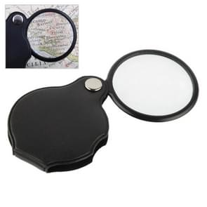 10 PCS 5X 50mm Magnifier Pocket Folding Magnifying Glass Loupe Pocket Spiegel(Black)