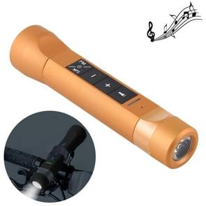 3 in 1 Multi-functional Bicycle Magic Music Flashlight MP3 Player Speaker(Gold)