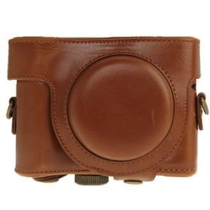 PU leren Camera Tas voor Sony HX50 (bruin)