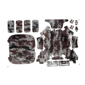 Digital Camouflage Pattern PVC Skin Decal Sticker for Phantom 3 Copter Shell Controller Accessory