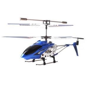 S107G 3-kanaals legering afstandsbediening helikopter met LED/Gyro (blauw)