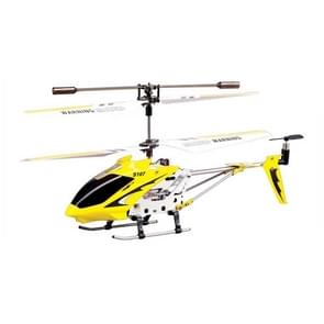 S107G 3-Channel Alloy Remote Control Helicopter with LED / Gyro(Yellow)