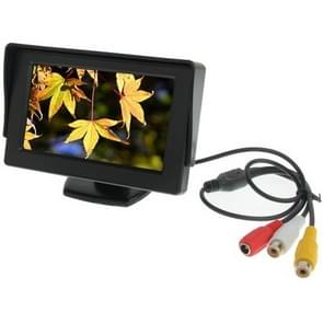 4.3 inch Car Color Monitor with Adjustable Angle Holder & Universal Sunshade , Dual Video Input