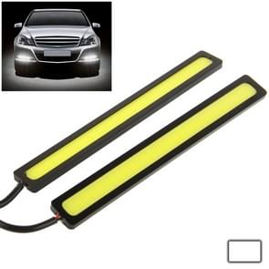 2 x 6W DIY witte LED Daytime Running Light / DRL Lamp  lengte: 14cm(Black)