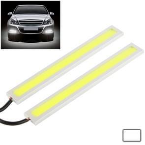 2 x 6W DIY witte LED Daytime Running Light / DRL Lamp  lengte: 17cm(Silver)