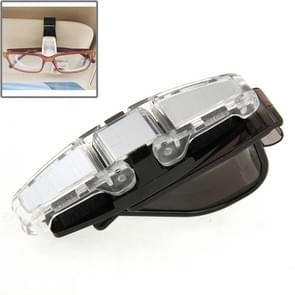 Car Vehicle Accessory Double Clip Design Sunglasses Eyeglasses Card Pen Holder Clip