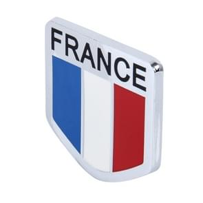 Universal French Flag Pattern Aluminum Alloy Car Front Grille