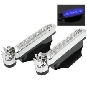 2 PC's 8 blauwe LED lampen Wind aangedreven decoratieve auto verlichting
