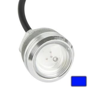 3W waterdichte Eagle Eye licht blauw LED licht voor voertuigen  kabel lengte: 60cm(Silver)