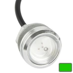 3W waterdichte Eagle Eye licht groen LED licht voor voertuigen  kabel lengte: 60cm(Silver)