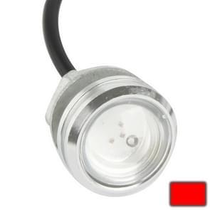3W waterdichte Eagle Eye licht rood LED licht voor voertuigen  kabel lengte: 60cm(Silver)