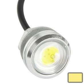 3W waterdichte Eagle Eye licht Warm wit LED licht voor voertuigen  kabel lengte: 60cm(Silver)