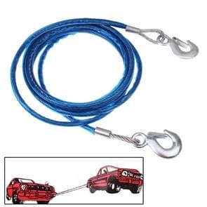 5 tons stalen voertuig slepen kabel touw  lengte: 4m (blauw)