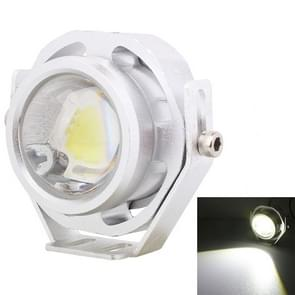 10W 500LM White Light 6500K COB LED Wired Hexagon Eagle Eyes Car Fog Lamp,Wire Length:35cm, DC 12-24V(Silver)