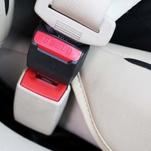 2 stks universele auto veiligheidsgordel extensie gesp (zwart)